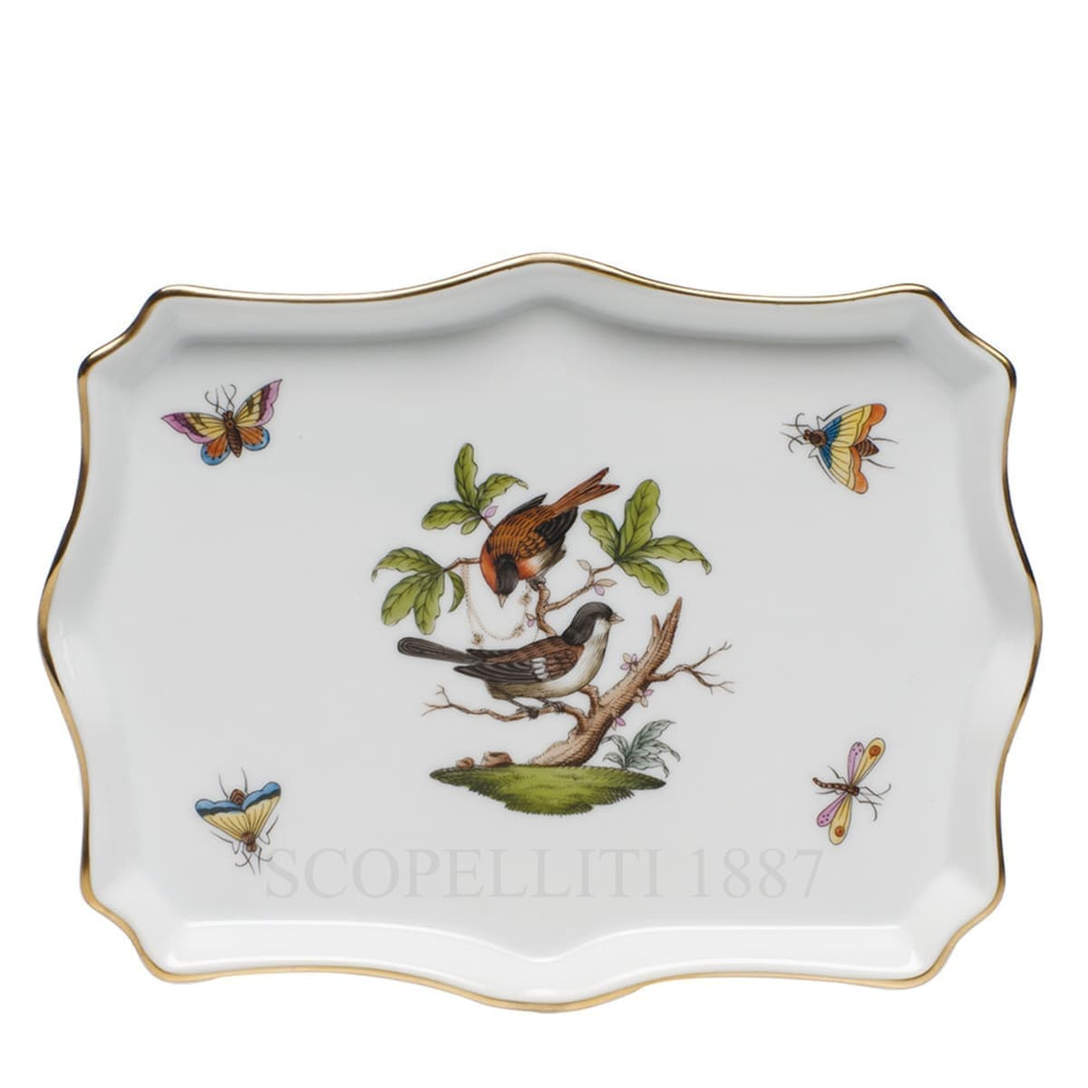herend porcelain rothschild rectangular tray