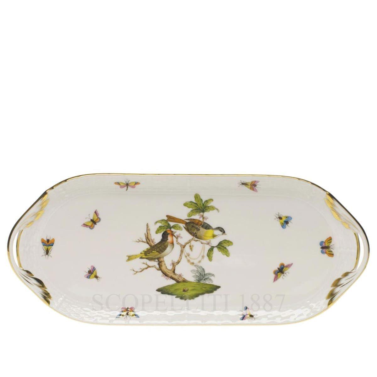 herend porcelain rothschild sandwich dish