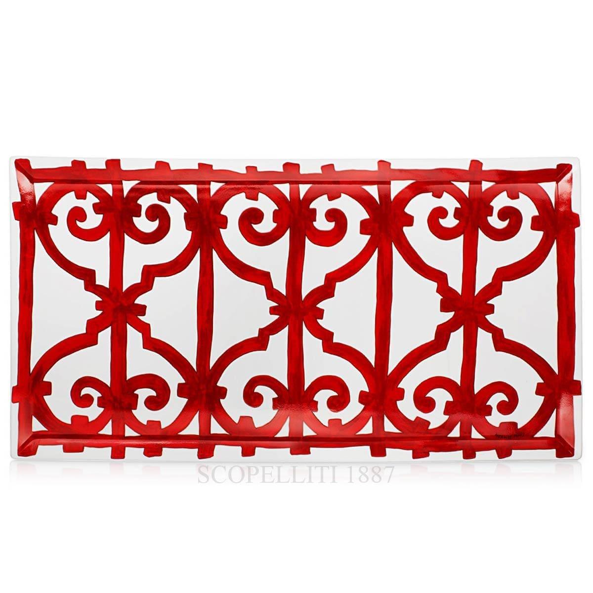 hermes parisbalcon du guadalquivir designer porcelain rectangular platter