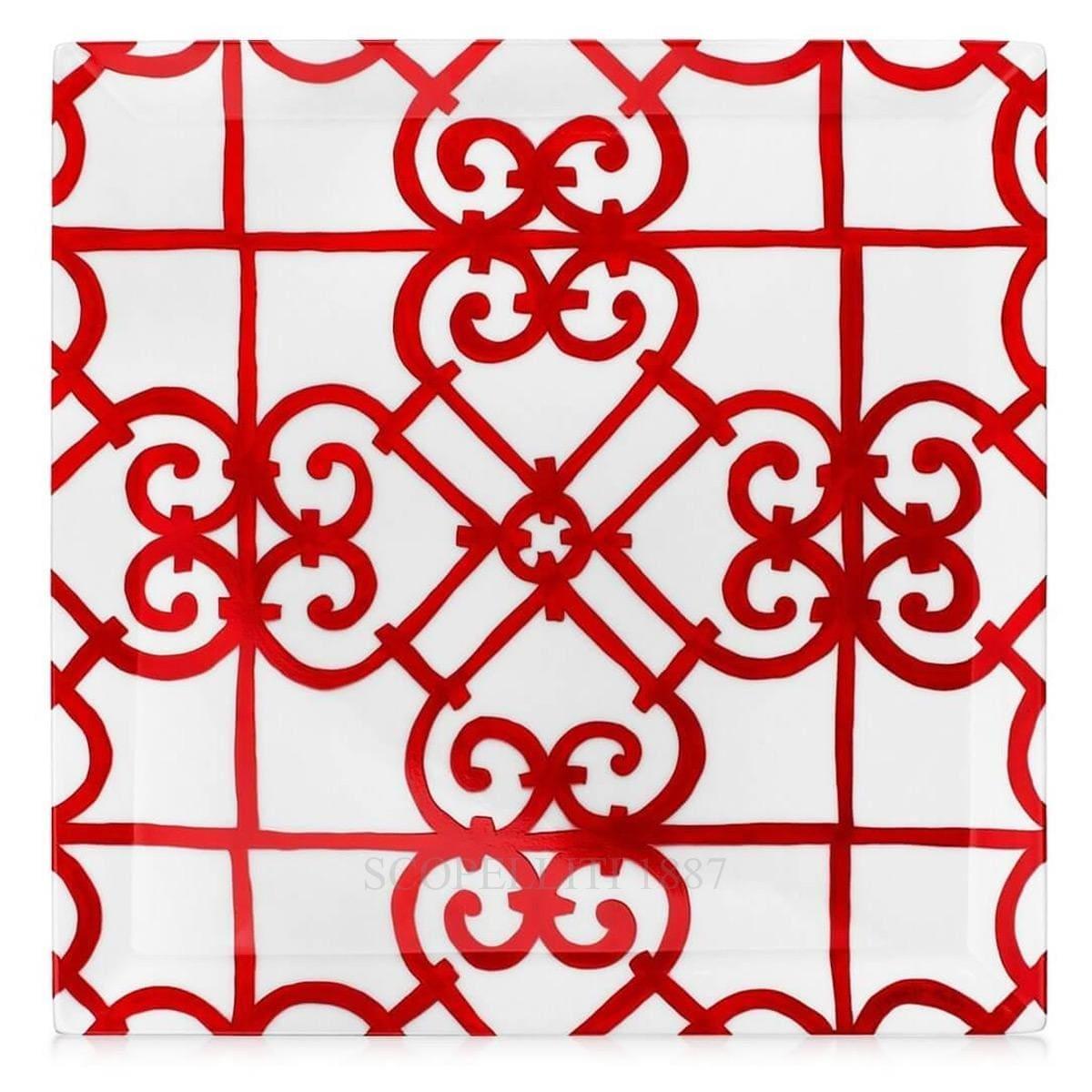 hermes parisbalcon du guadalquivir designer porcelain square plate