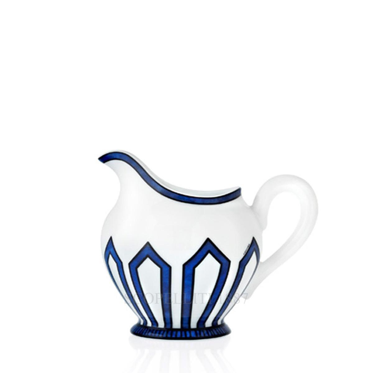 hermes paris bleus dailleurs designer porcelain creamer