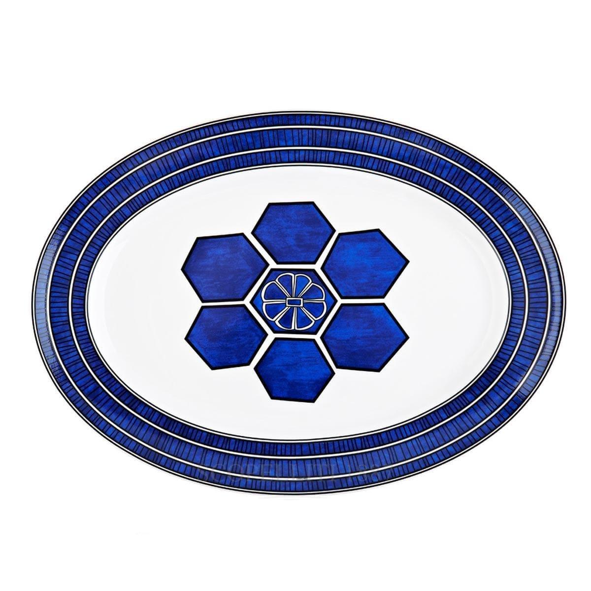hermes paris bleus dailleurs designer porcelain oval platter