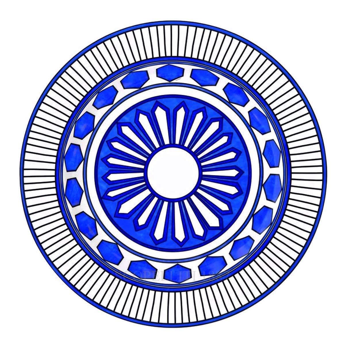 hermes paris bleus dailleurs designer porcelain round deep platter