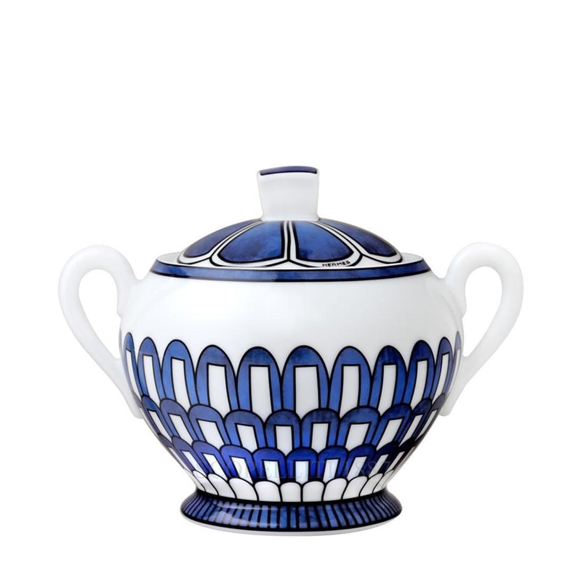 hermes paris bleus dailleurs designer porcelain sugar bowl