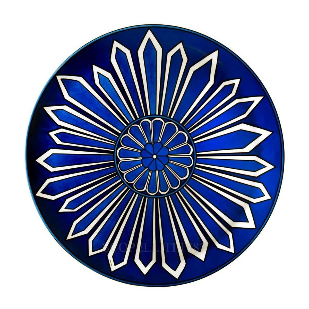 hermes paris bleus dailleurs designer porcelain tart platter