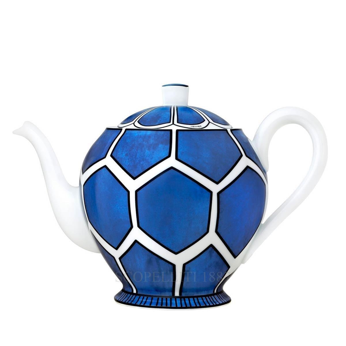 hermes paris bleus dailleurs designer porcelain teapot
