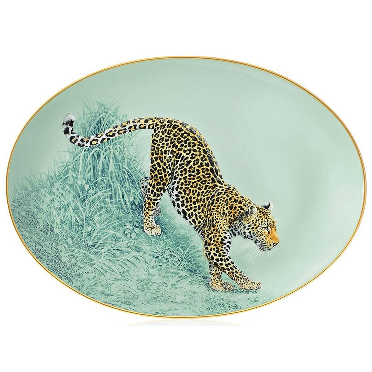 Hermes Carnets d'Equateur Oval Platter small model