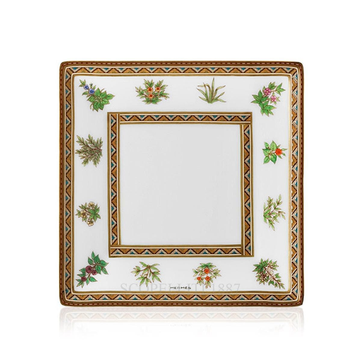 Hermes Cheval d'Orient Square Plate n°2