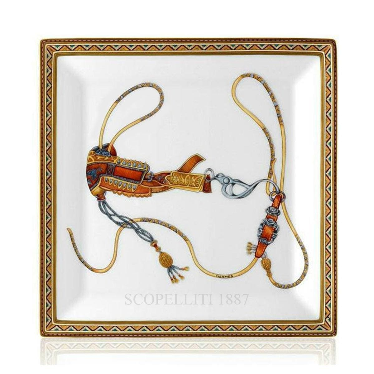 Hermes Cheval d'Orient Square Plate n°3