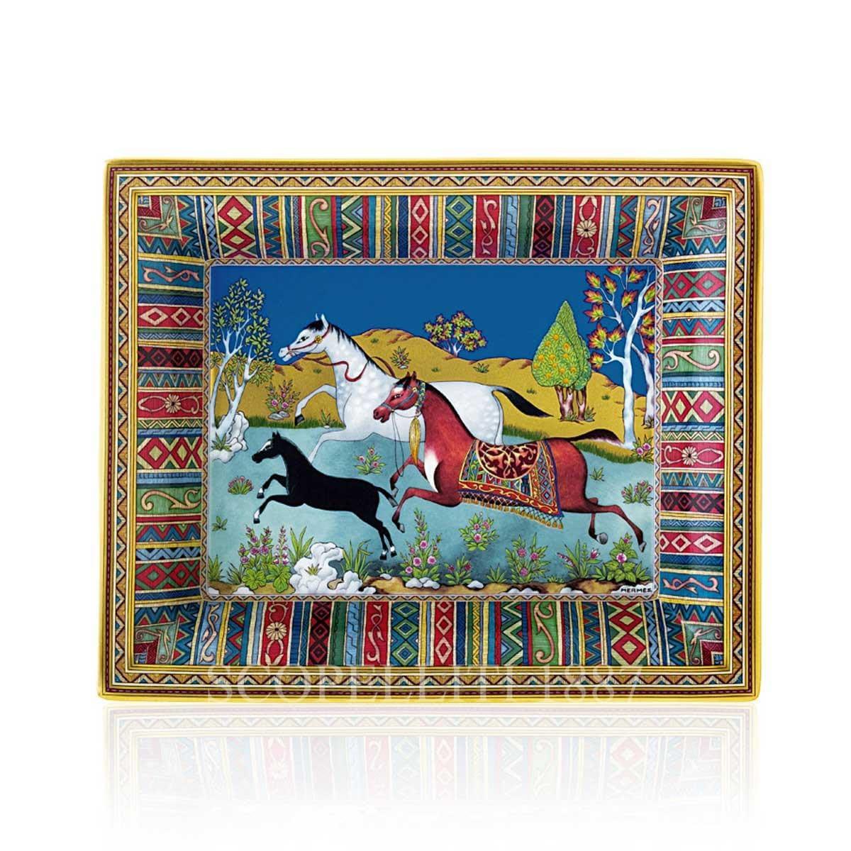 hermes paris cheval dorient vide poche Porcelain tray