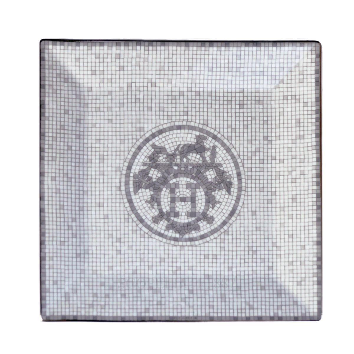 hermes paris designer mosaique au platinum square plate