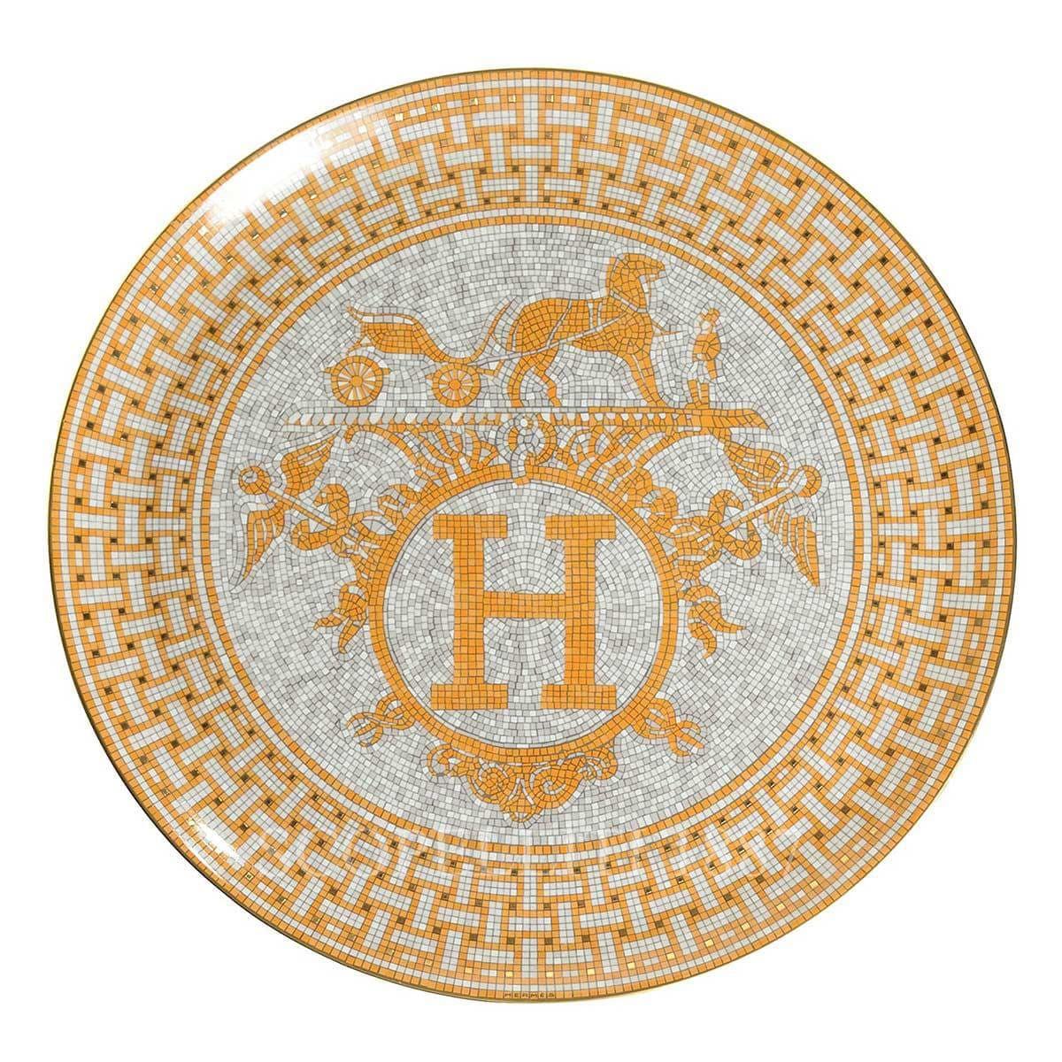 hermes paris designer mosaique au tart platter