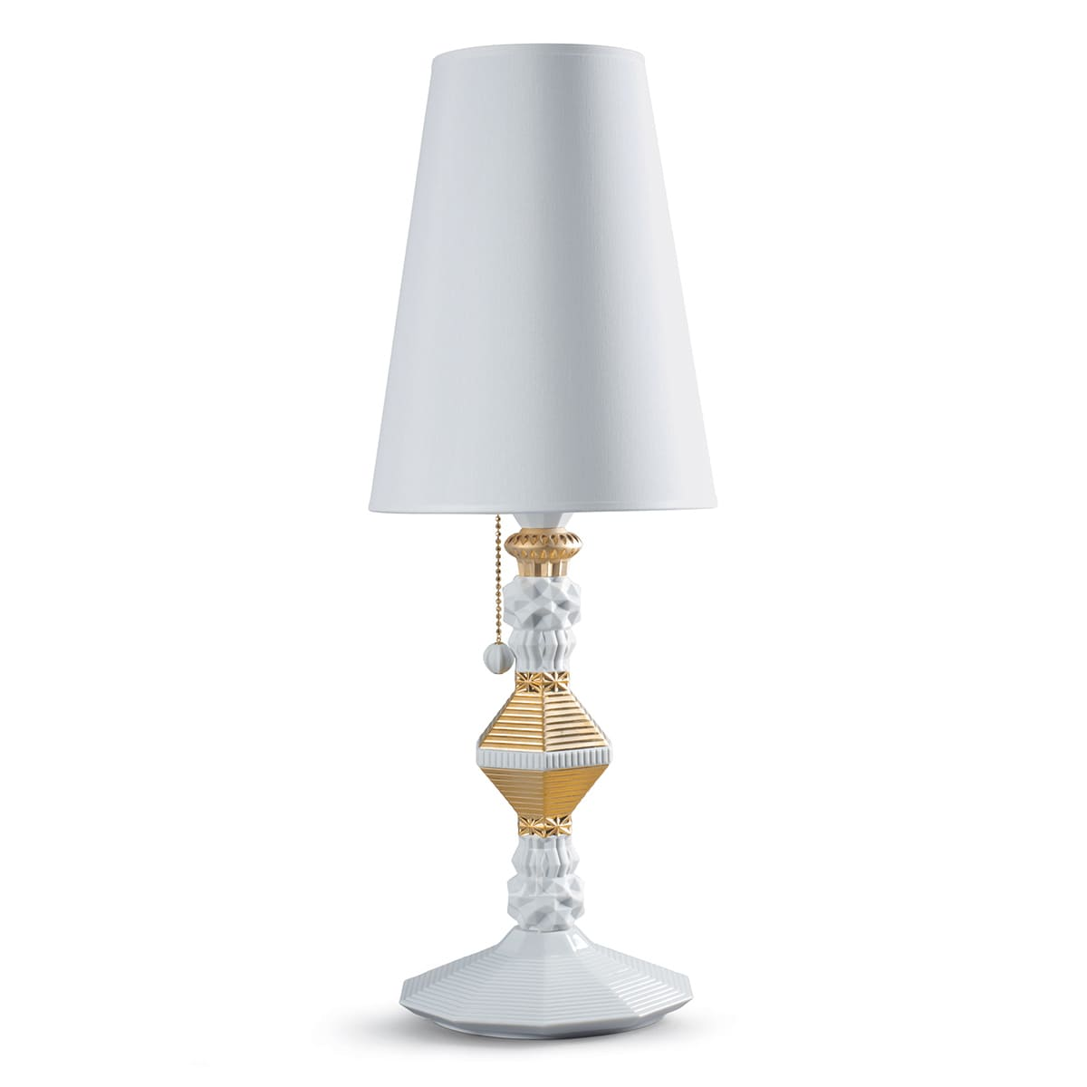 lladro belle de nuit table lamp golden luster spanish designer
