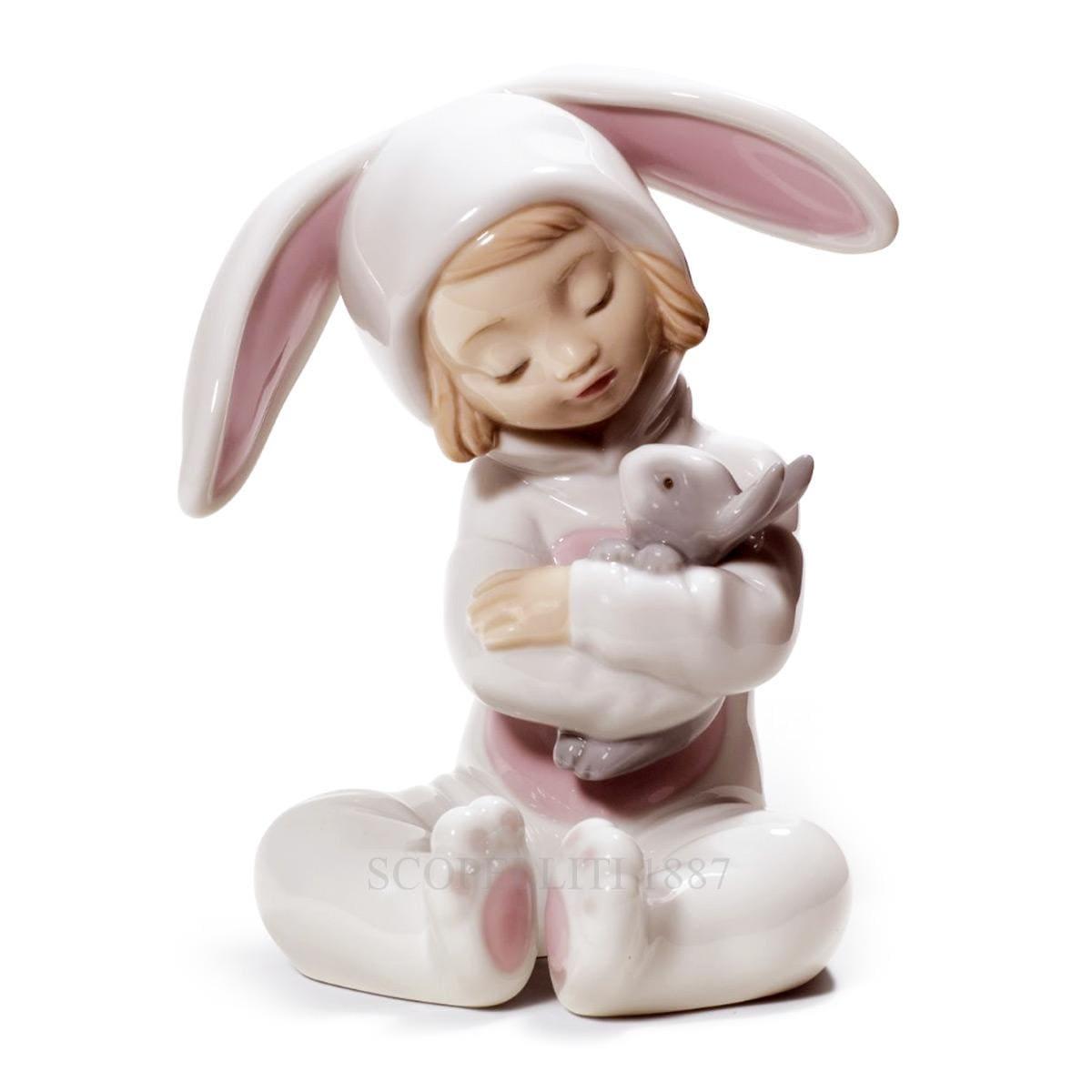 lladro bunny hugs porcelain figurine spanish designer