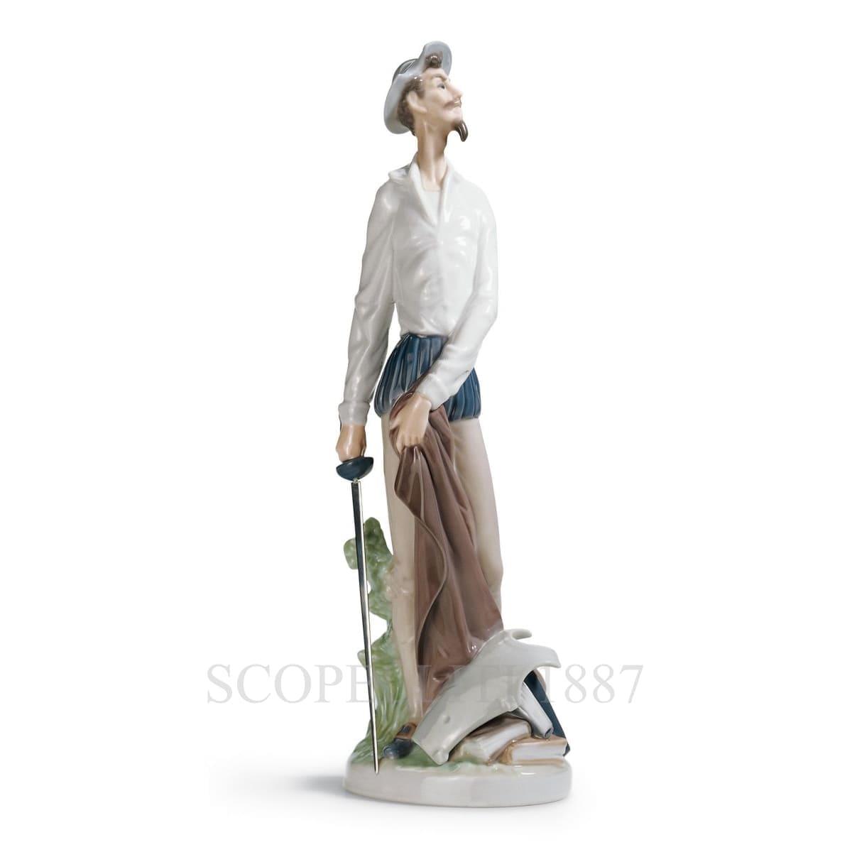 lladro don quixote porcelain figurine spanish designer