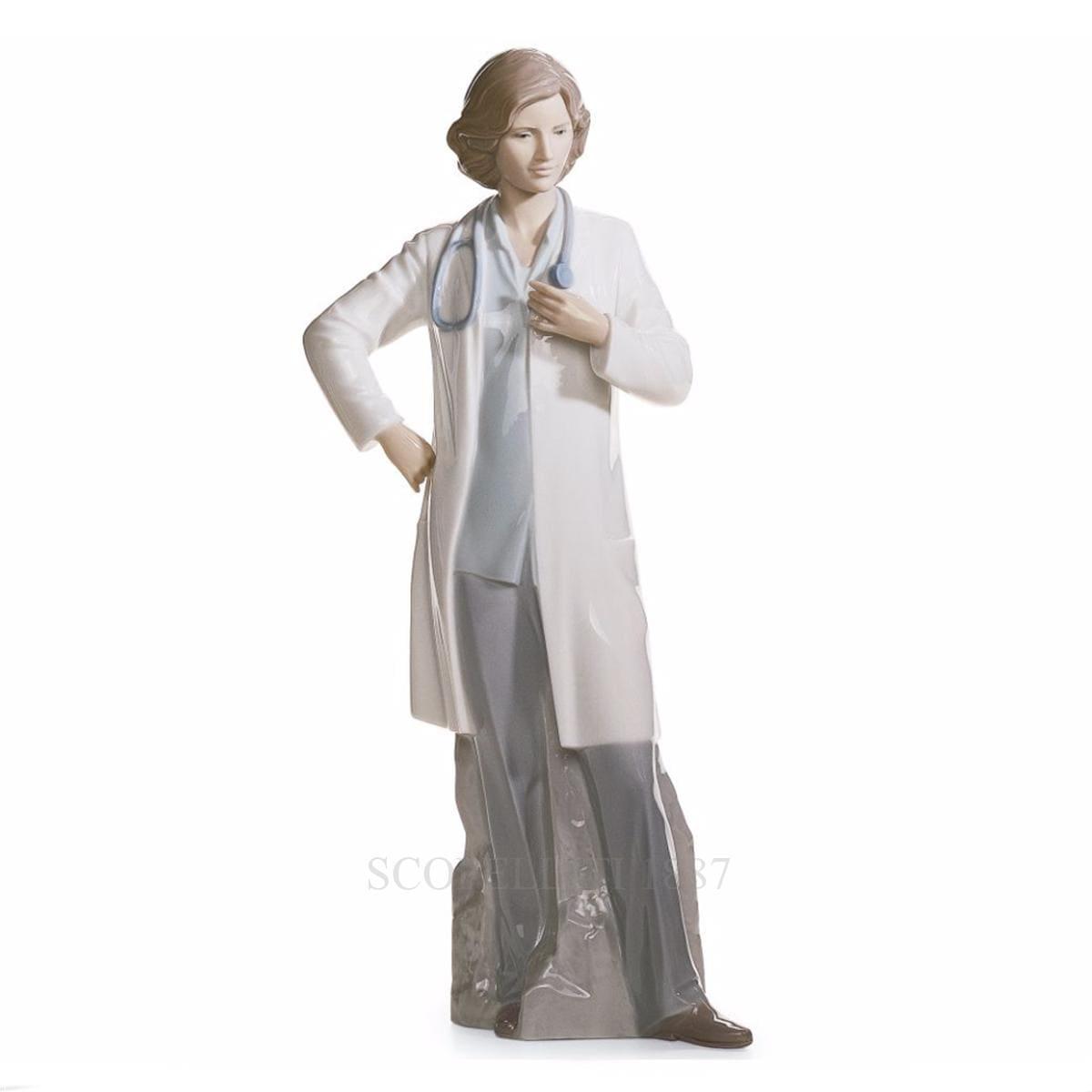 lladro female doctor porcelain figurine spanish designer