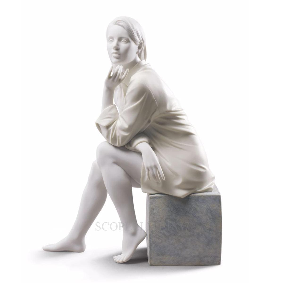 Lladró In My Thoughts Porcelain Figurine