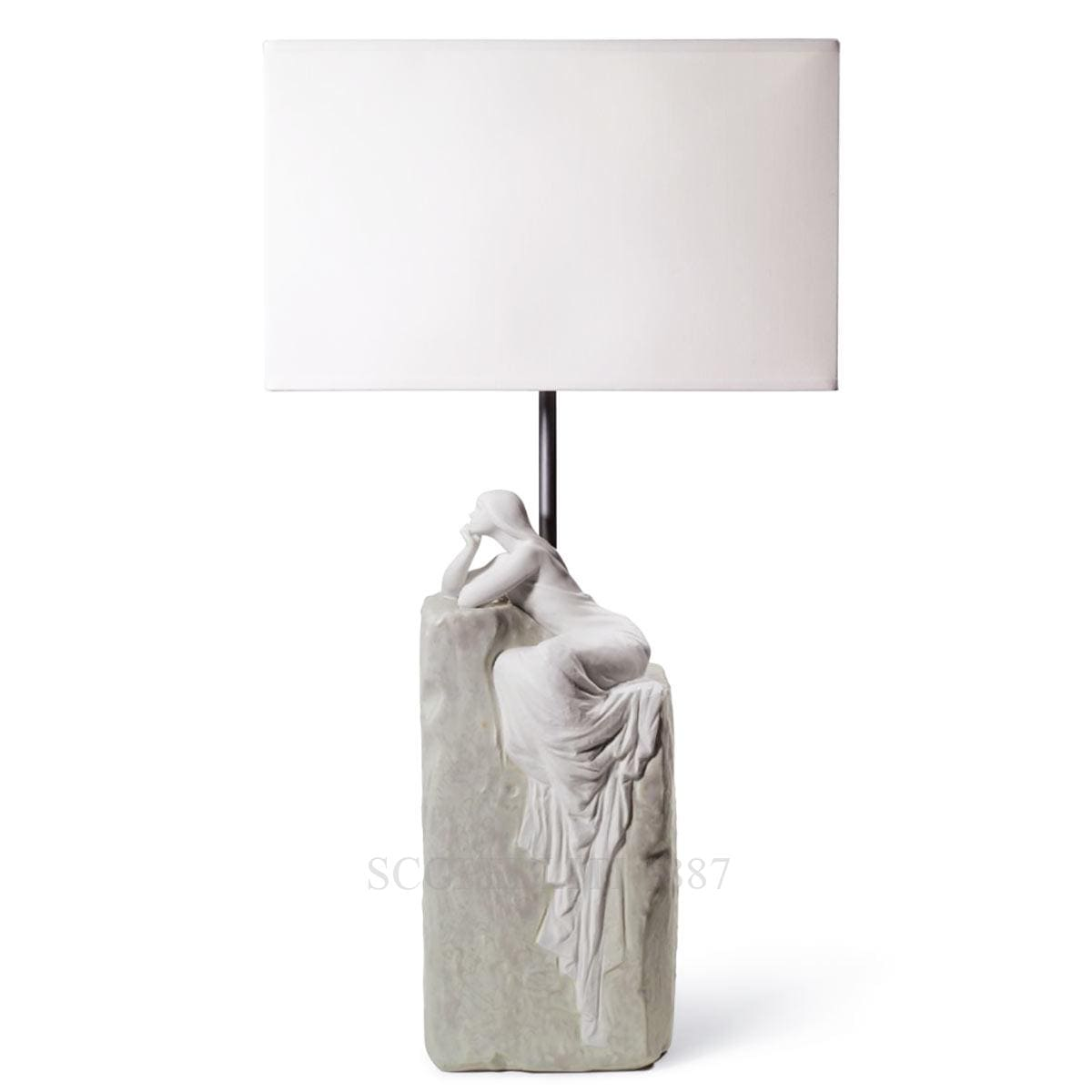 lladro meditating woman lamp spanish designer