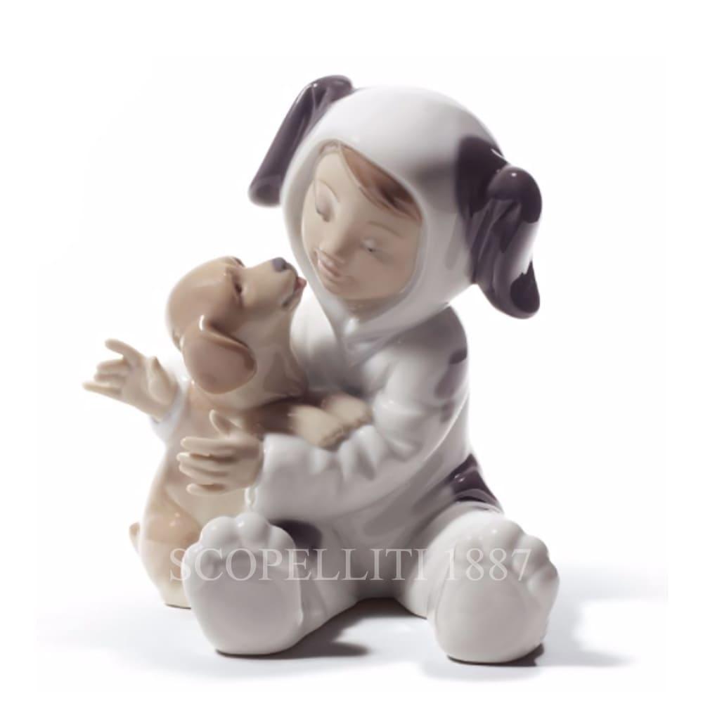 lladro my playful puppy porcelain figurine spanish designer