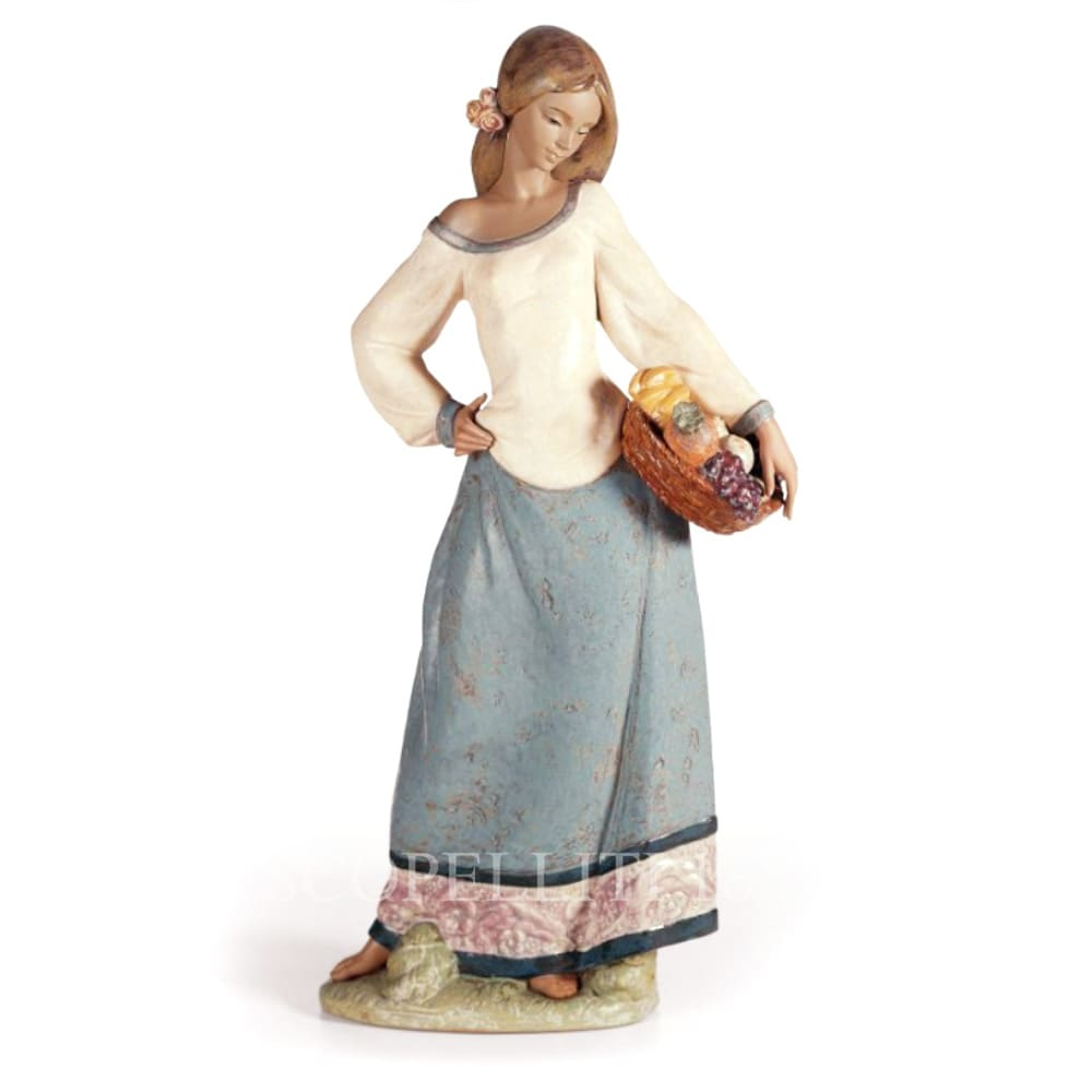 Lladró Seasonal Gifts Woman Porcelain Figurine