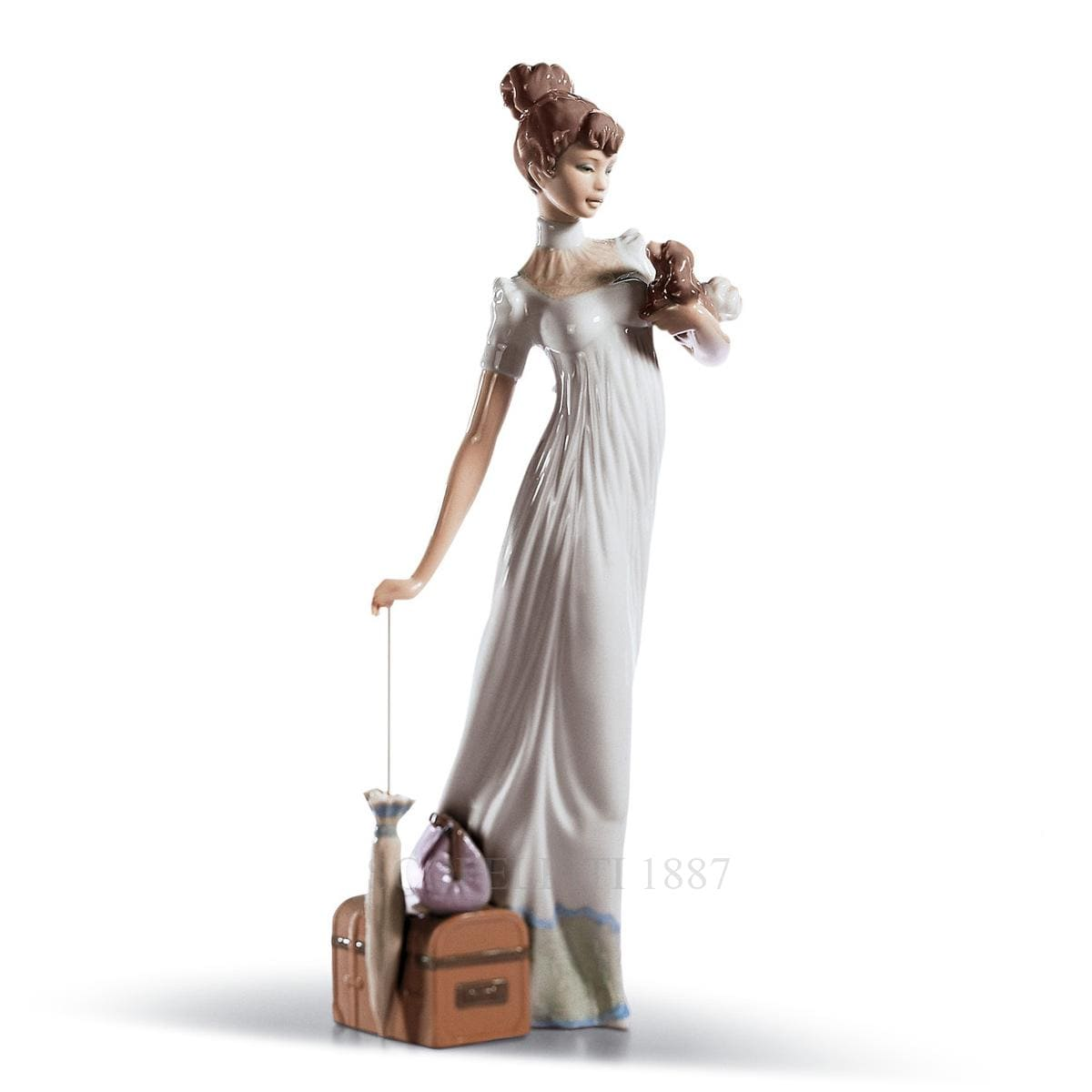 lladro travelling companions porcelain figurine spanish designer