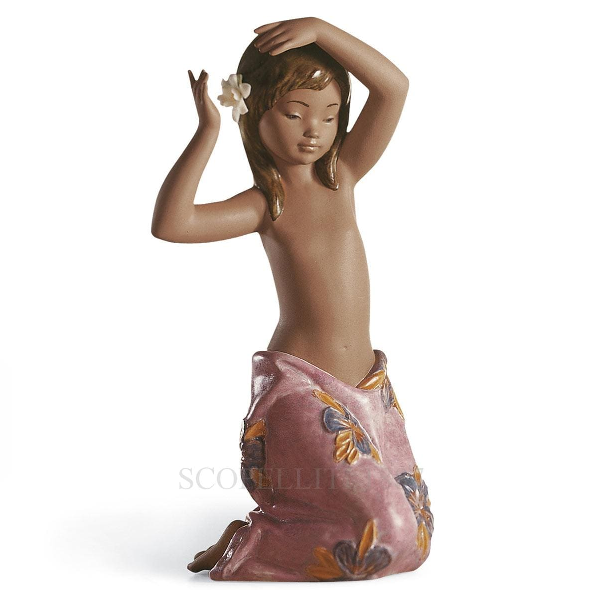Lladró Tropical Flowers Porcelain Figurine