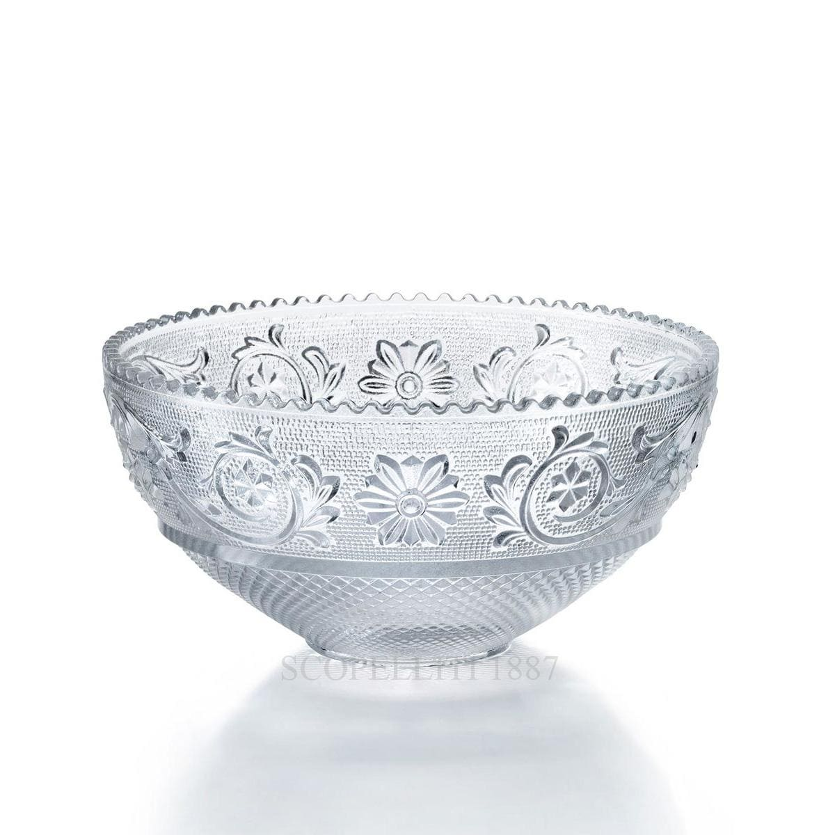 baccarat arabesque designer small crystal bowl