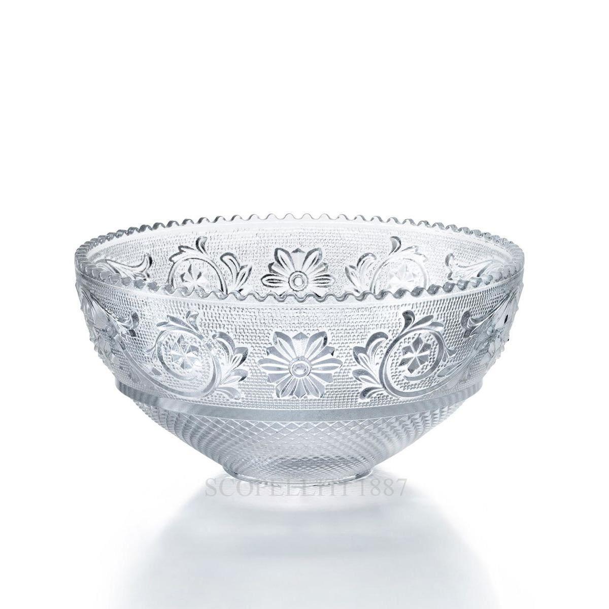 baccarat arabesque designer small crystal bowl