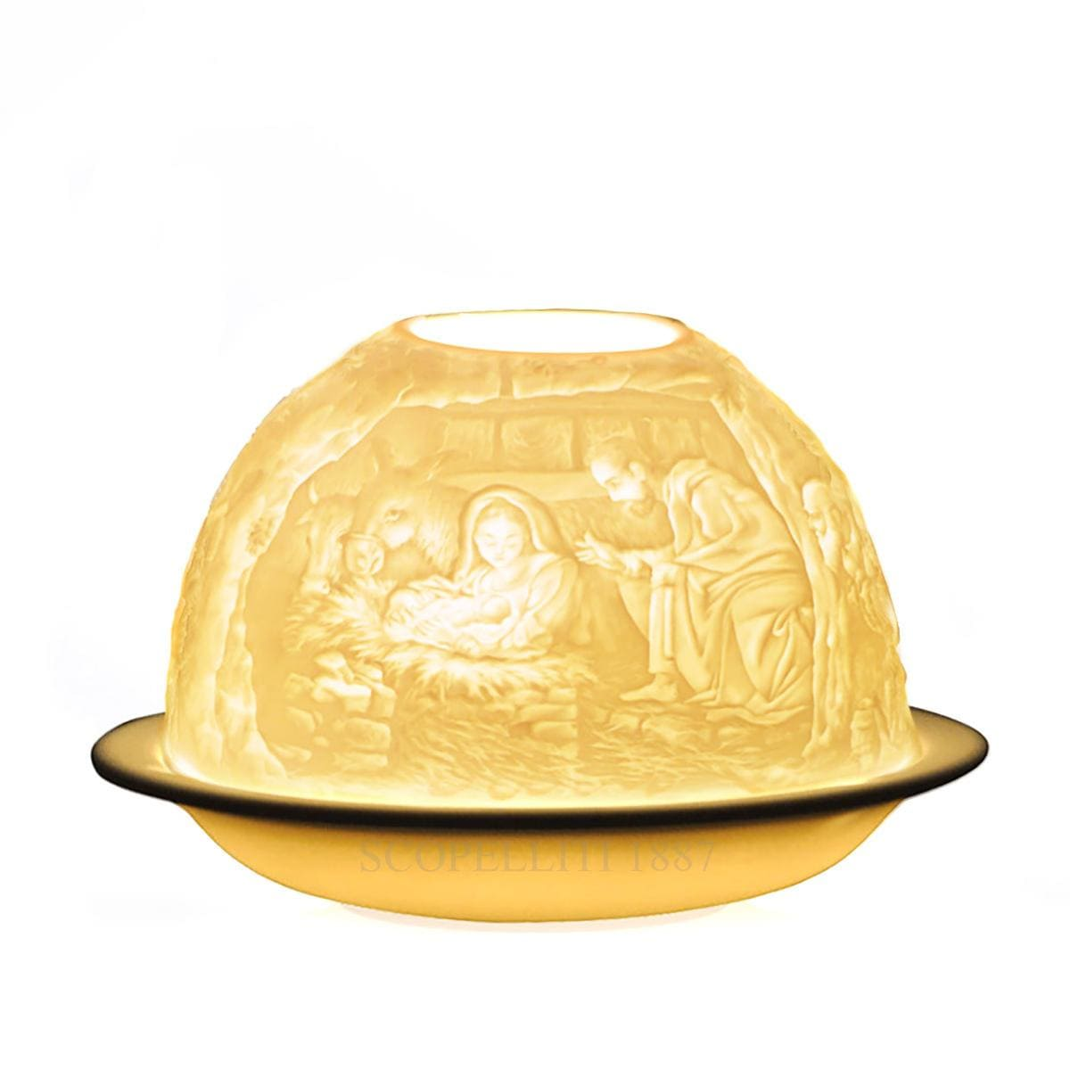 bernardaud designer nativity votivelight bisque porcelain