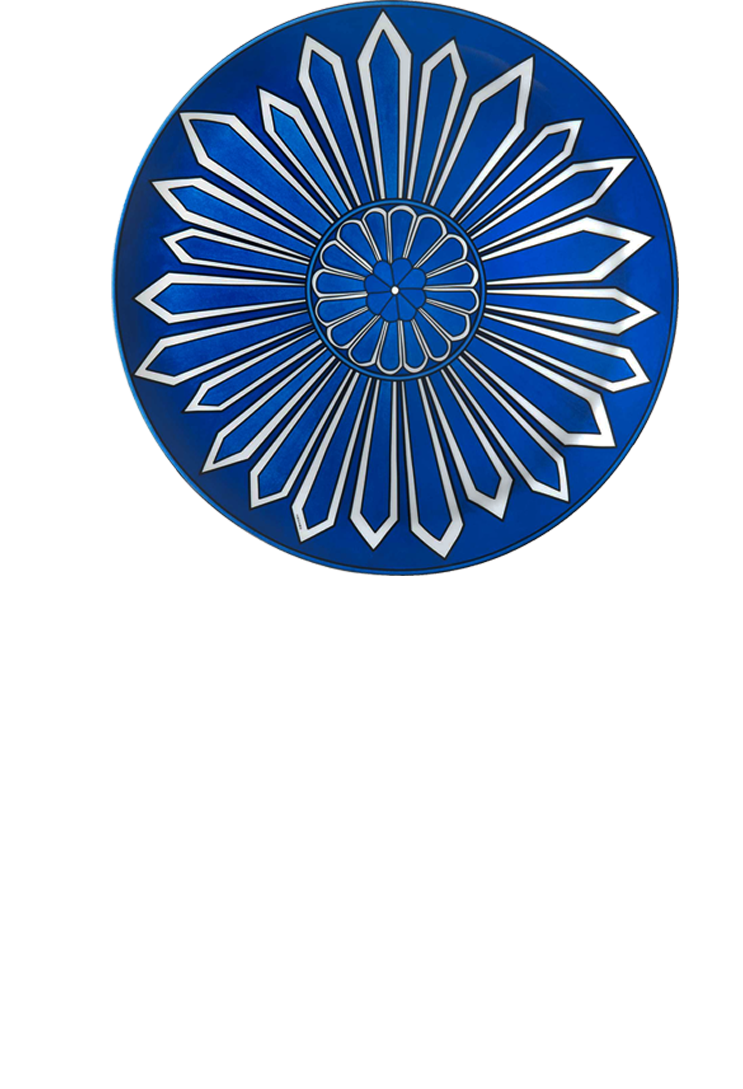 bleus dailleurs plate from hermes a decorative blue cake plate