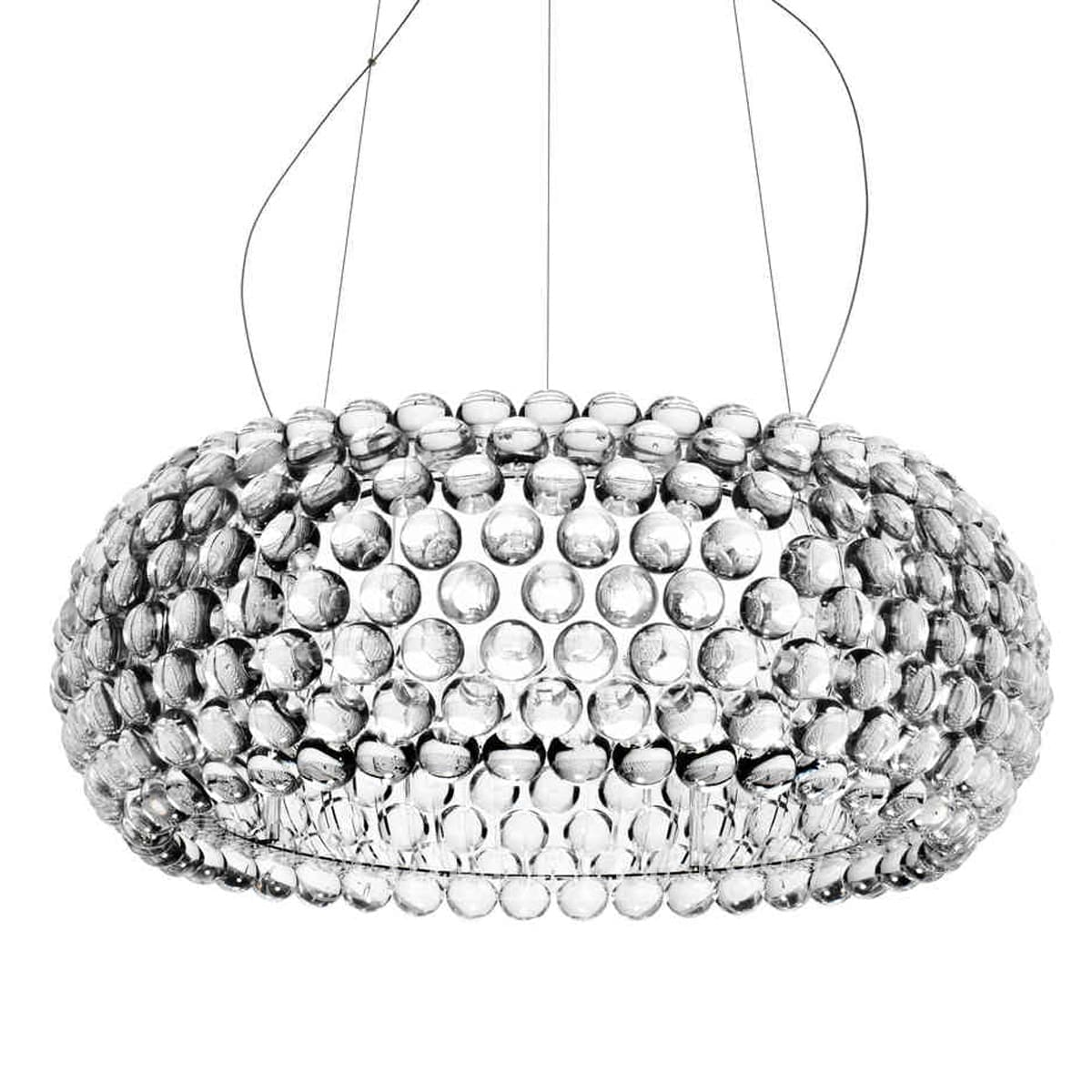 foscarini italian lighting caboche designer suspension lamp large clear