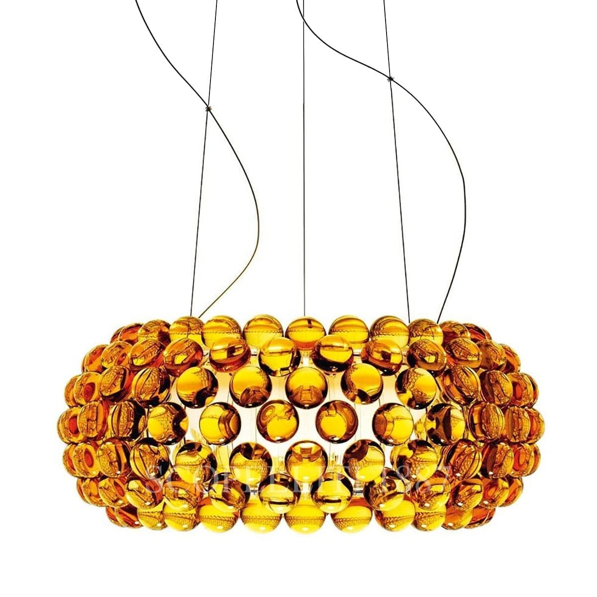 foscarini italian lighting caboche designer suspension lamp medium yellow