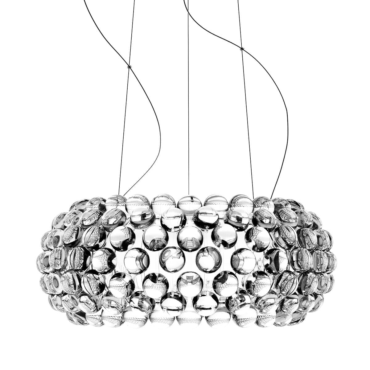 foscarini italian lighting caboche designer suspension lamp medium clear