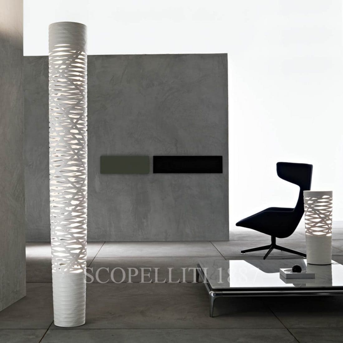 foscarini italian lighting designer floor lamp tress beige grey