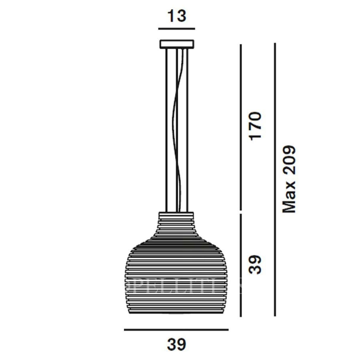 foscarini italian lighting designer suspension lamp behive measure