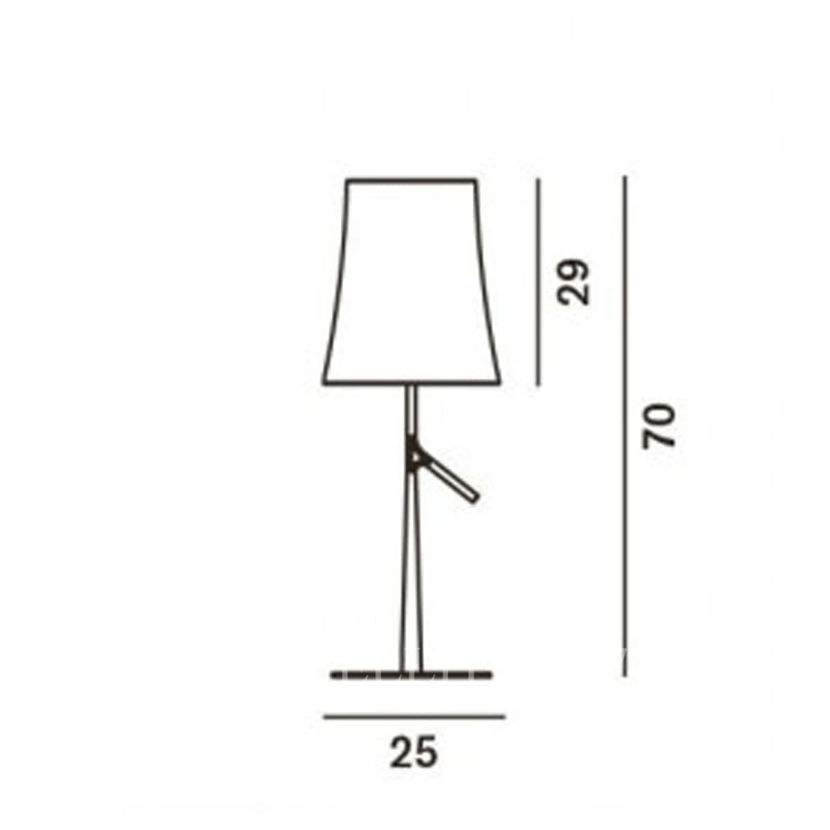 foscarini italian lighting designer table lamp birdie large measures