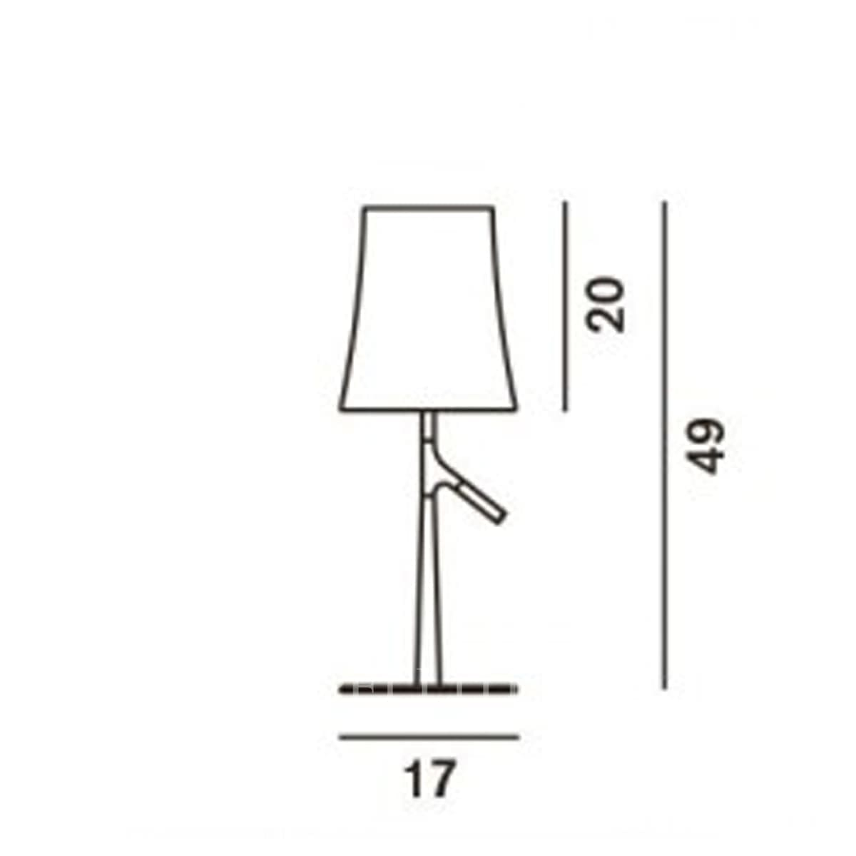 foscarini italian lighting designer table lamp birdie small measures