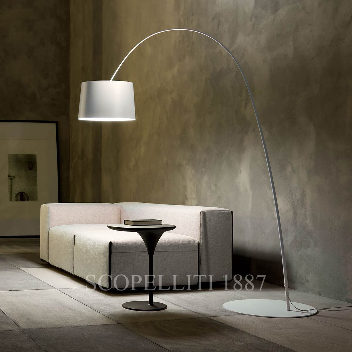 foscarini italian lighting twiggy designer floor lamp beige