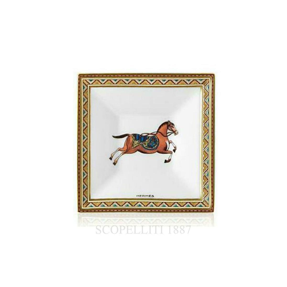 hermes paris cheval orient square plate