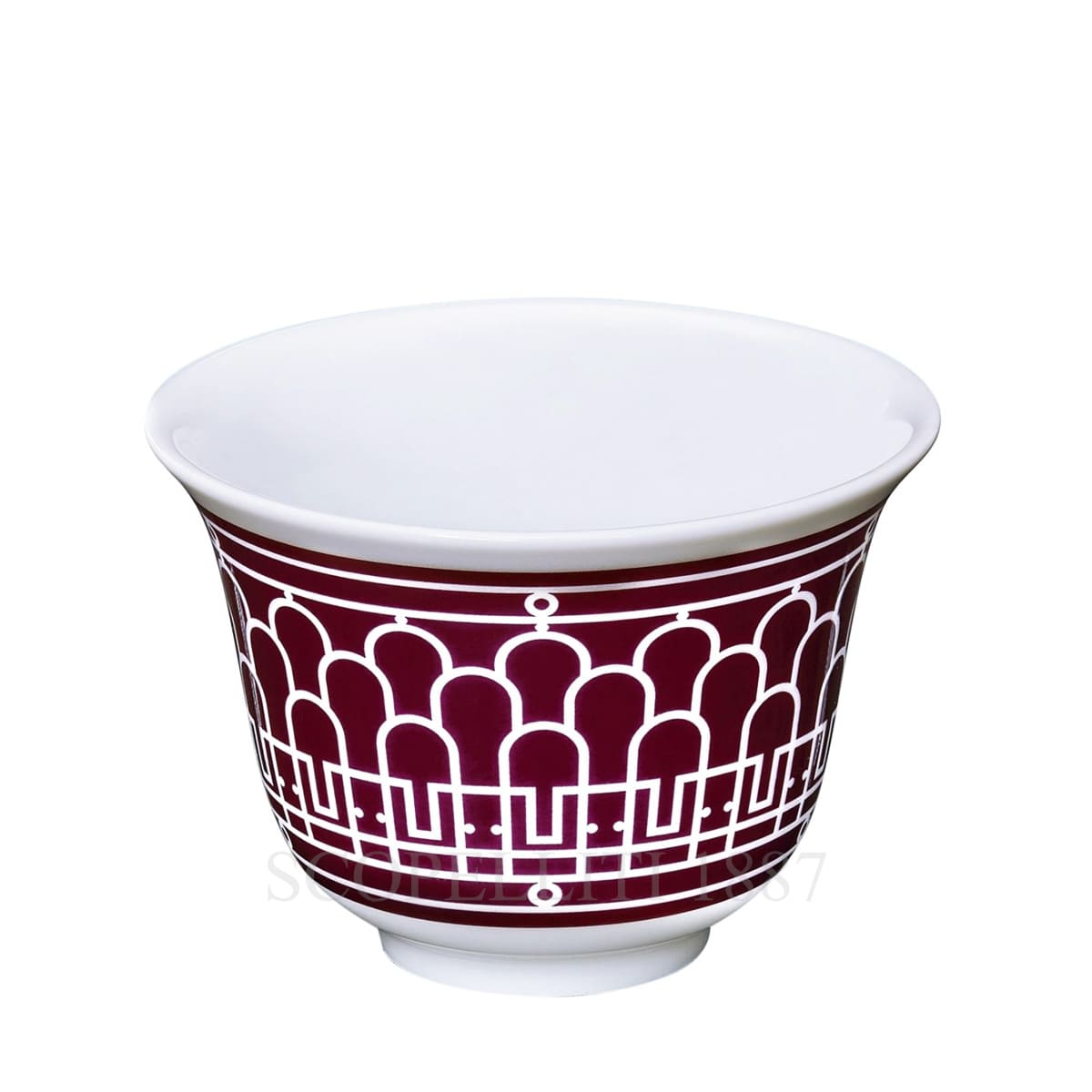hermes paris h deco designer red mini cup
