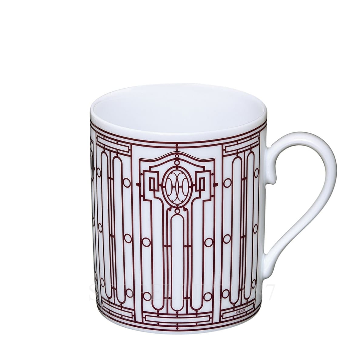hermes paris h deco designer red mug