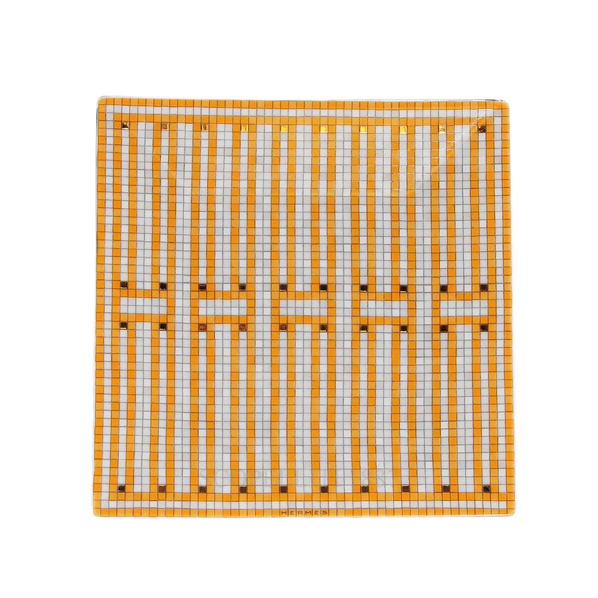 hermes mosaique au designer square plate