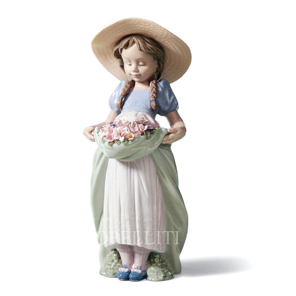 lladro bountiful blossoms porcelain designer figurine