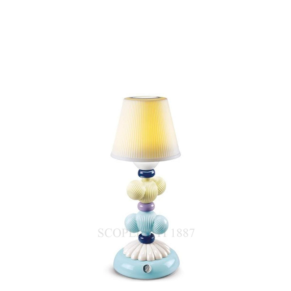 lladro cactus firefly designer table lamp yellow and blue