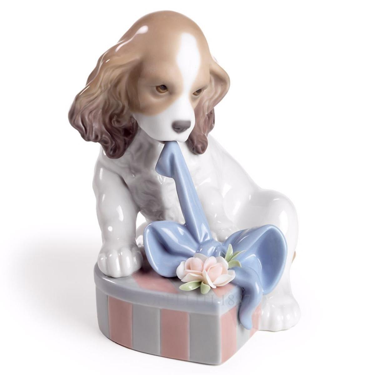 lladro cant wait dog porcelain figurine