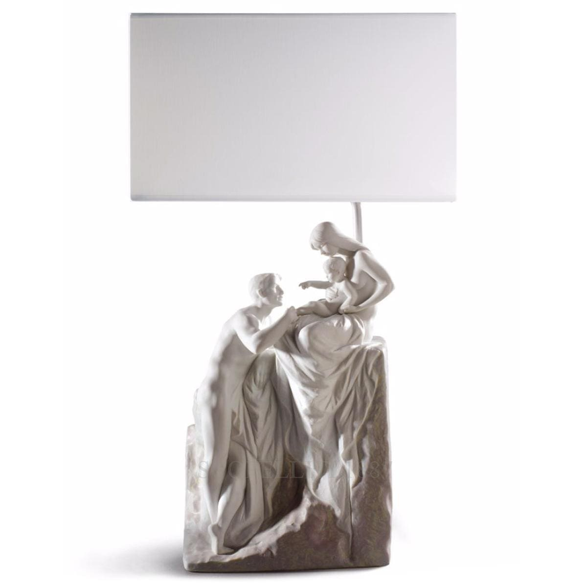 lladro family table lamp sculpture design