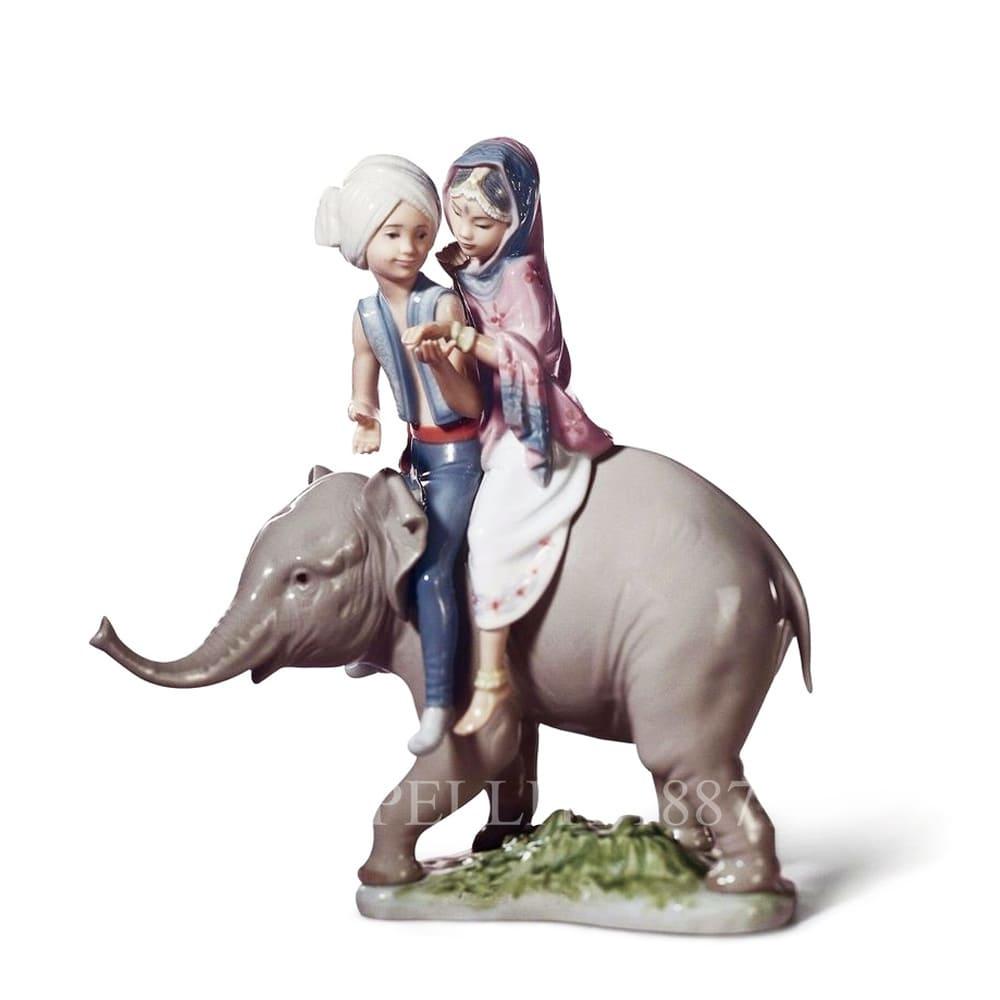Lladró Hindu Children Porcelain Figurine
