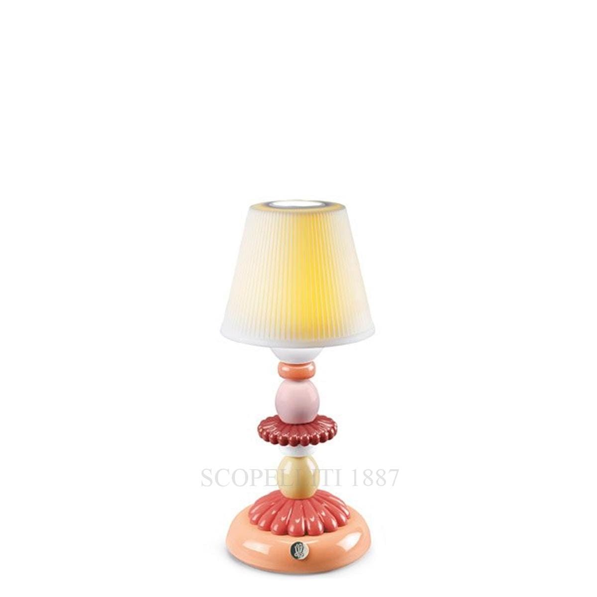 lladro lotus firefly designer table lamp coral