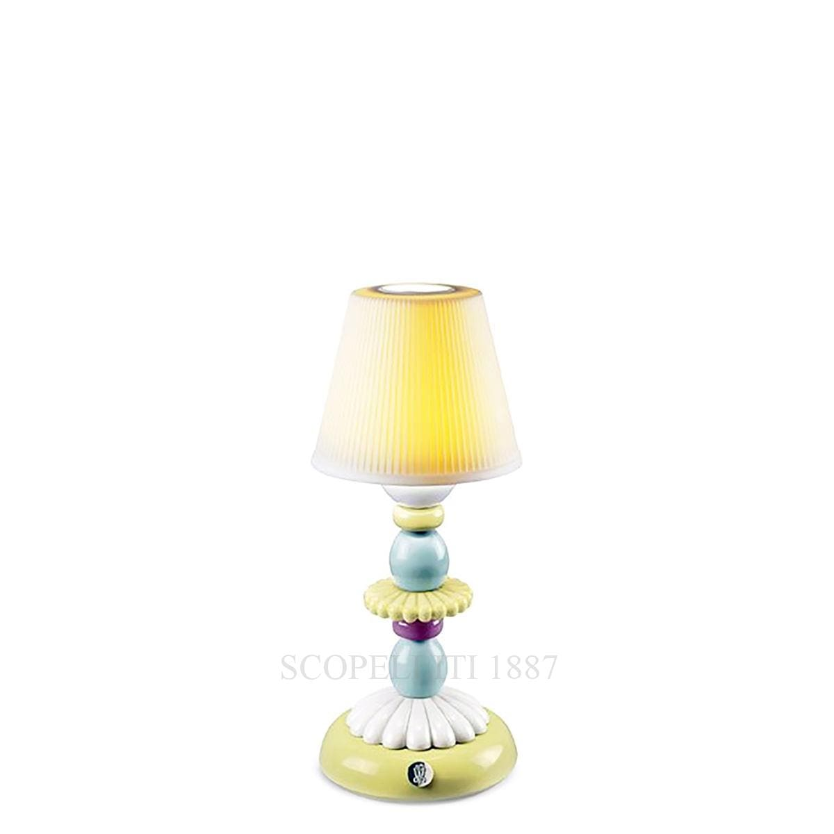 lladro lotus firefly designer table lamp green & blue