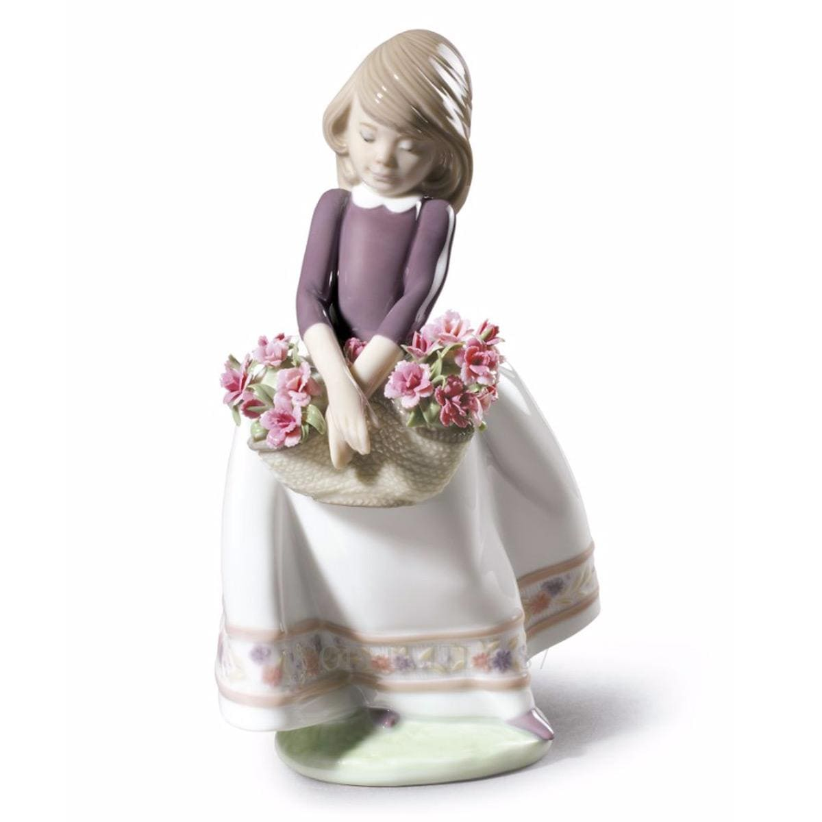 lladro may flowers beautiful porcelain figurine